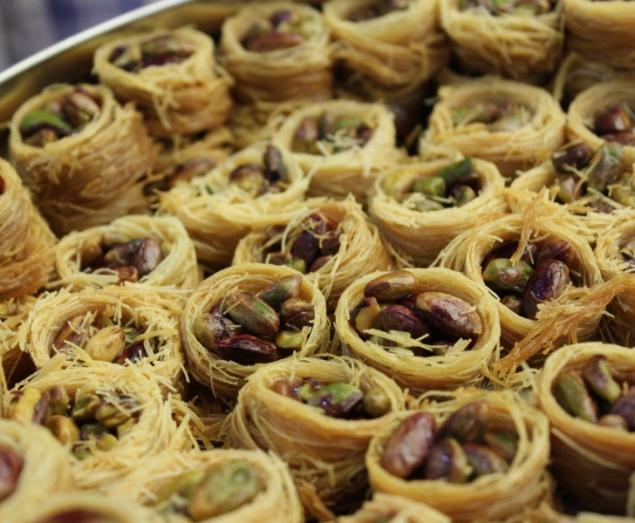 Desserts in a bakery in Amman, Jordan