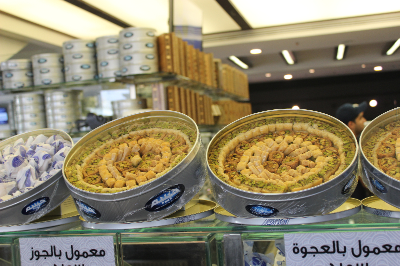 Desserts in a bakery in Amman, Jordan