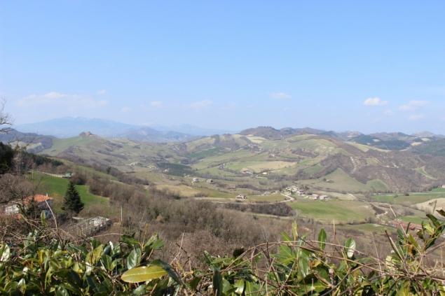 Landscape around Peglio, Le Marche/Italy
