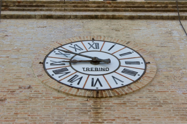 Tower clock at Peglio, Le Marche/Italy