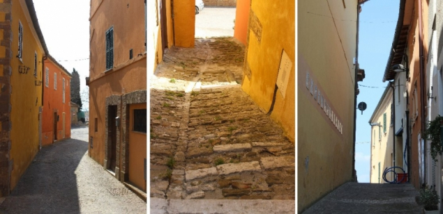 Street views at Peglio, Le Marche/Italy