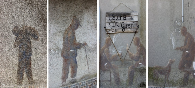 Wall paintings at Peglio, Le Marche/Italy