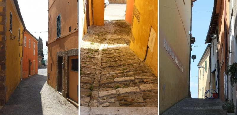 Street views at Peglio, Le Marche/Italy