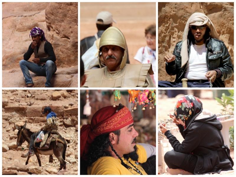 Faces, Petra, Jordan
