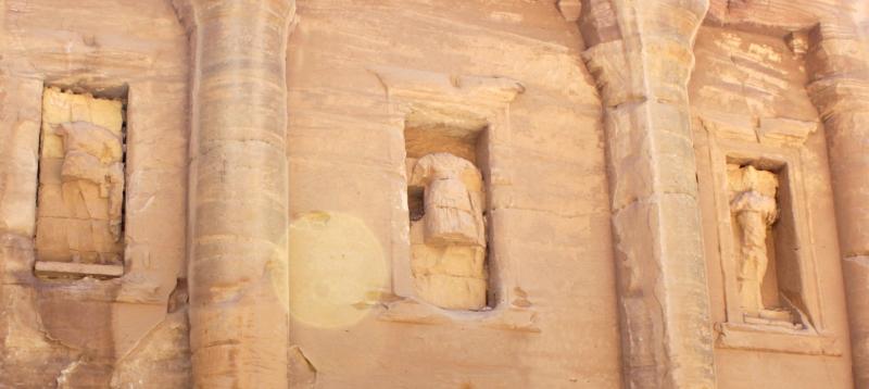 Stone figures in Petra, Jordan