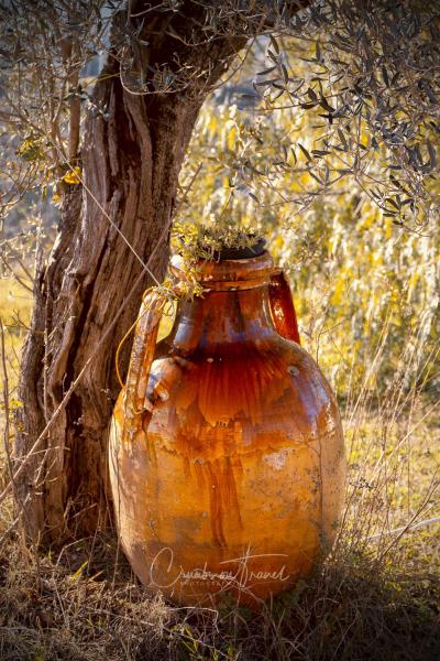 Big vase as garden decor