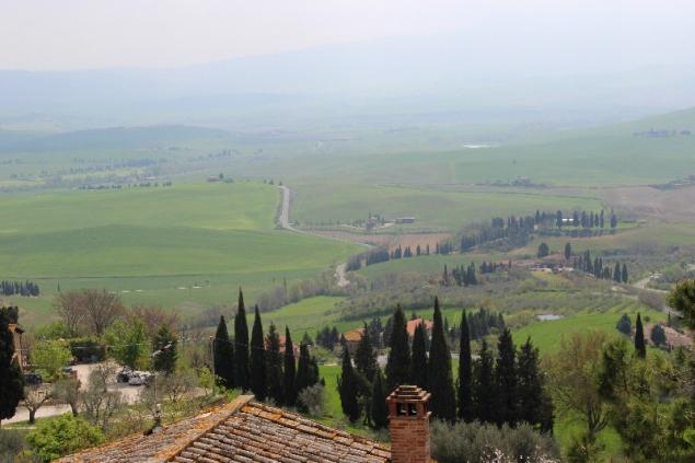 View fom Pienza, Tuscany, Italy