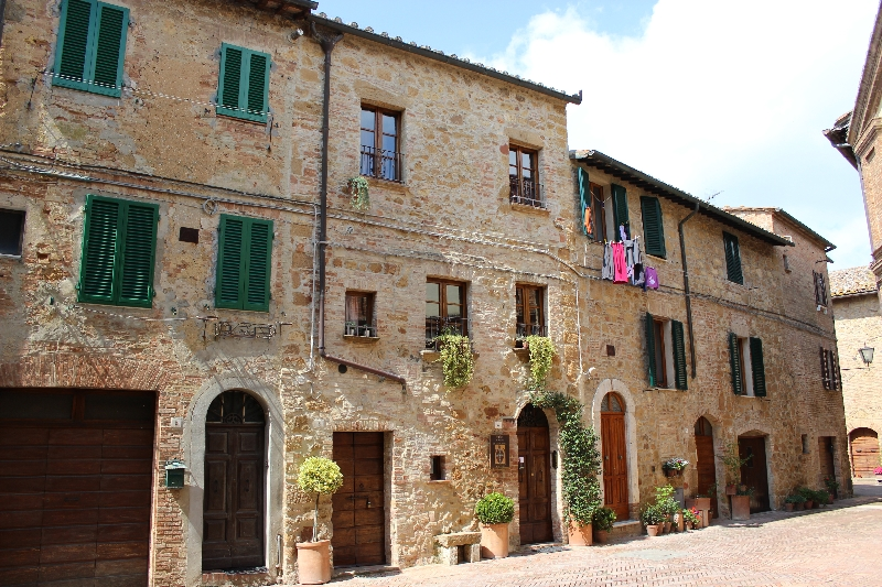 Houses in Pienza, Tuscany, Italy