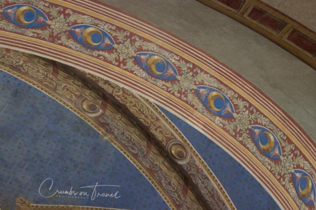 Fresco in the church in Pienza/Tuscany