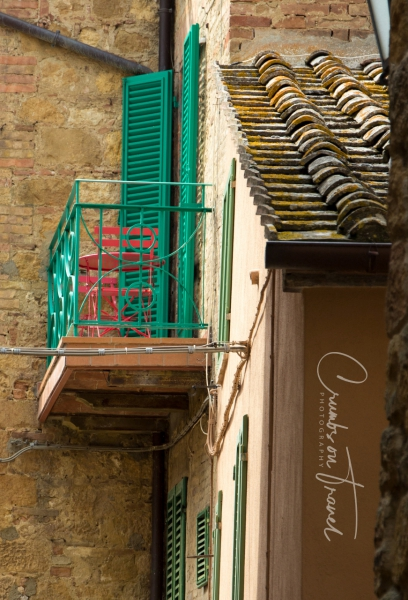 Balcomy in Pienza/Tuscany