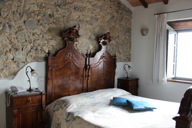 My room at Podere Alberese, Asciano, Tuscany, Italy