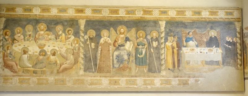 Wall paintings, Pomposa, Ferrara, Emilia-Romagna/Italy