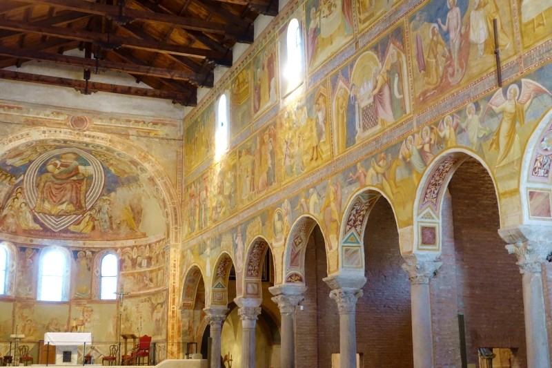 Church paintings, Pomposa, Ferrara, Emilia-Romagna/Italy