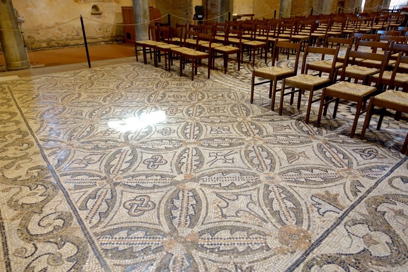 Mosaic floor, Pomposa, Ferrara, Emilia-Romagna/Italy