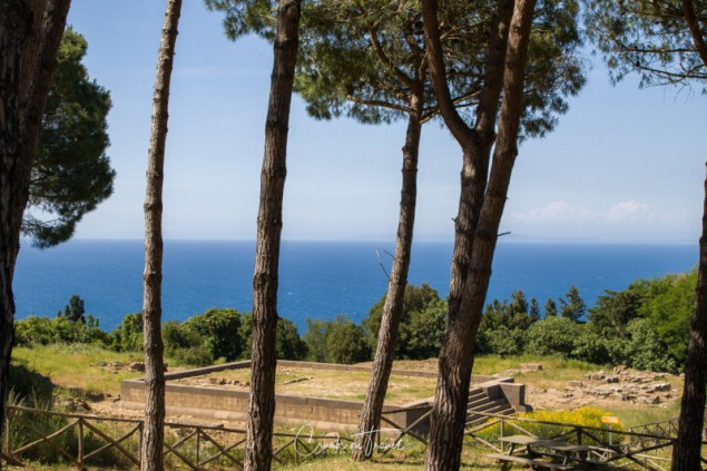 View on the see from Populonia