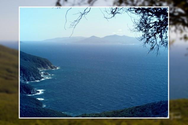 Elba seen from Populonia
