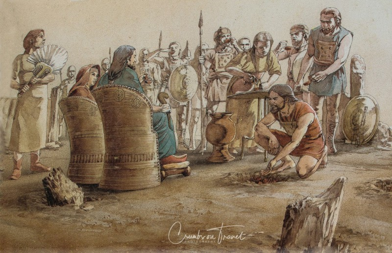 Donating to the king, Populonia