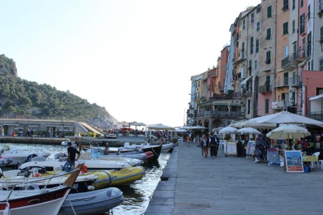 Port view of Porto Venere, Italy