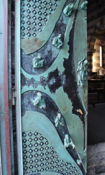 Door of the Church of St. Peter in Porto Venere, Italy