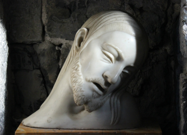 Statue of Christ in the Church of St. Peter in Porto Venere, Italy