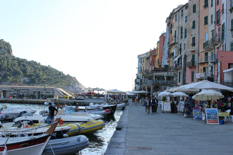 Port view of Porto Venere, Italy