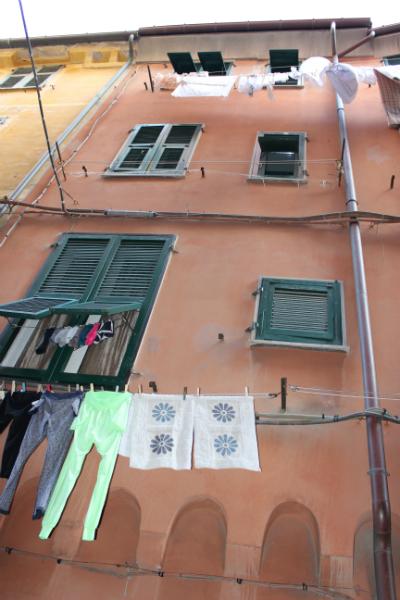 Street view of Porto Venere, Italy