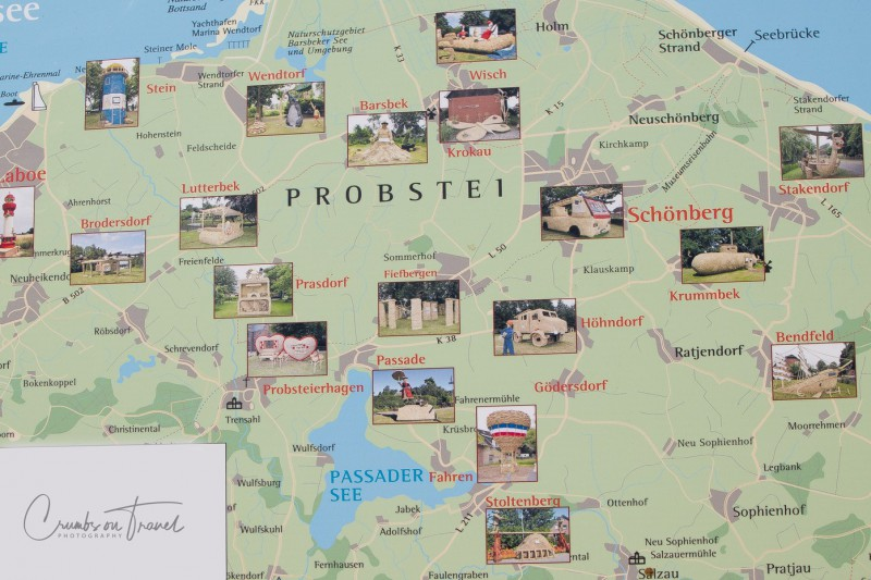 Map of the Strawfigures at the Probsteier Grain Days