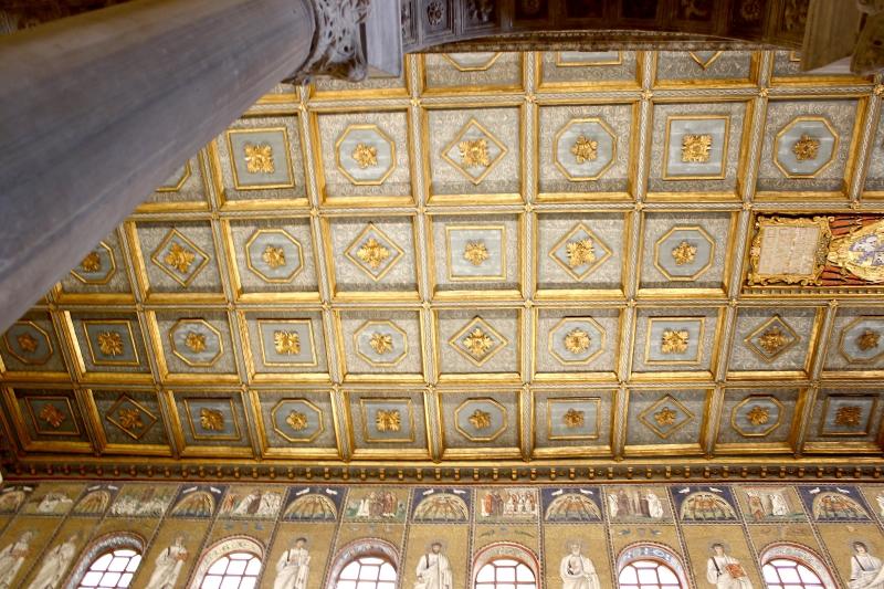 Inside the basilica of Sant'Apollinaris Nuovo, Ravenna, Emilia-Romagna, Italy