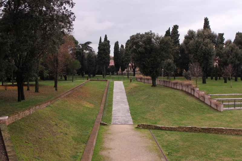 View from the mausoleum of Theoderic the Great in Ravenna