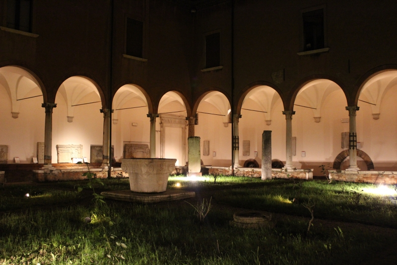 Yard of the National Museum of Ravenna, Emilia-Romagna, Italy