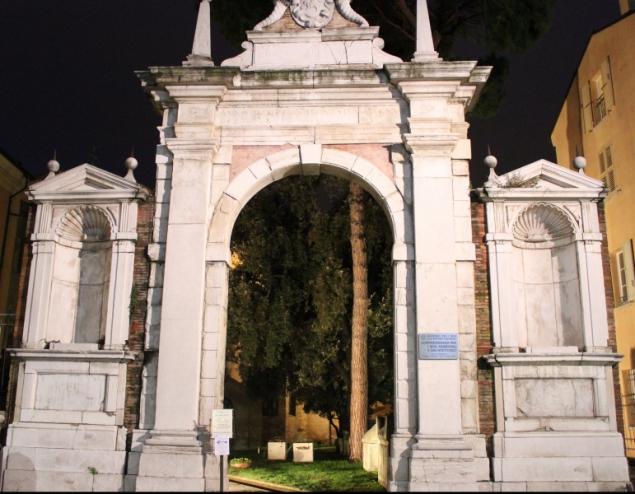 Entrance of the National Museum of Ravenna, Emilia-Romagna, Italy