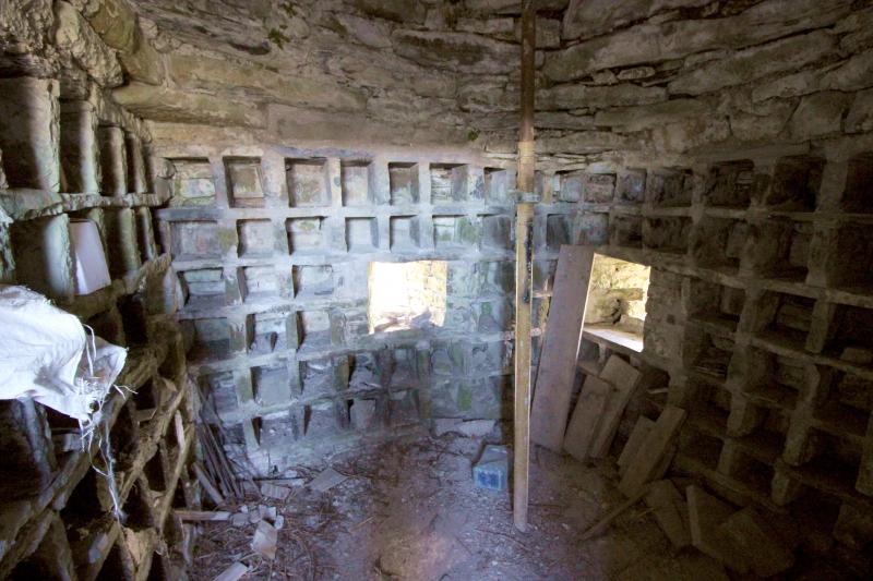 Inside the castle of Riverstown/Killmessan, County Meath/Ireland