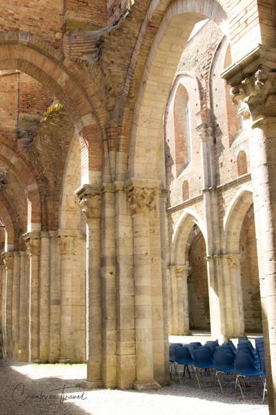 Inside the Abbey of San Galgano, Tuscany/Italy
