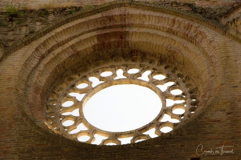 Rose Window, The Abbey of San Galgano, Tuscany/Italy