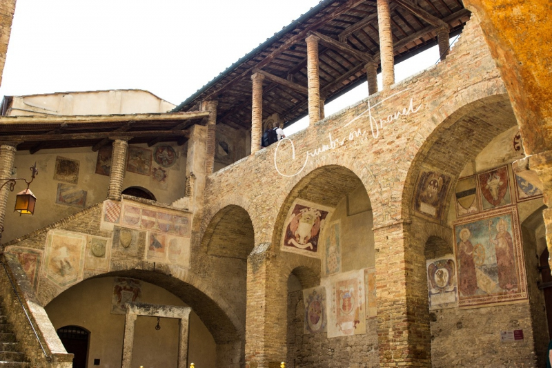 Courtyard of the Torre Grossa of San Gimignano, Tuscany/Italy