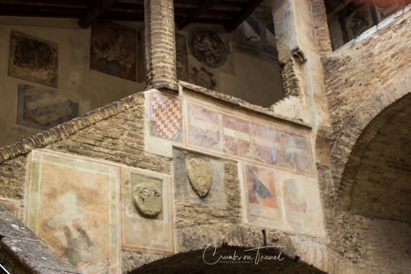 Courtyard of the Torre Grossa of San Gimignano, Tuscany/Ita