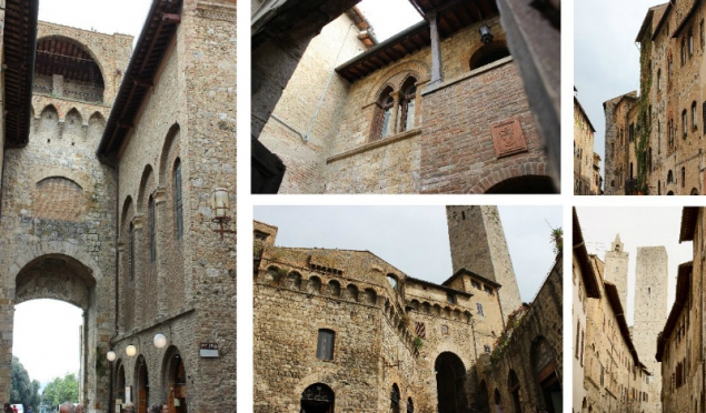 Some street view of San Gimignano, Tuscany