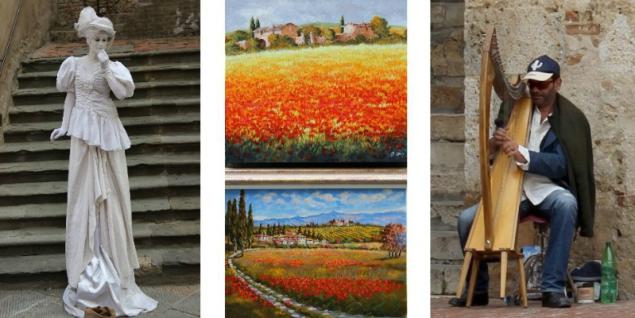 Art in san Gimignano, Tuscany