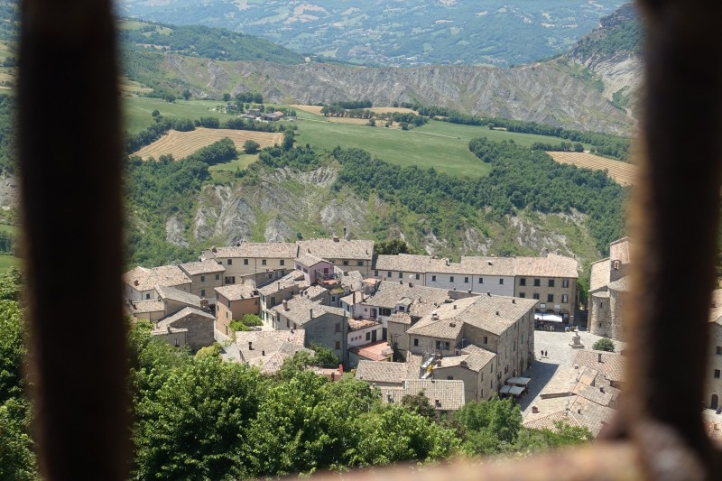 View of San Leo, Emilia-Romagna/Italy