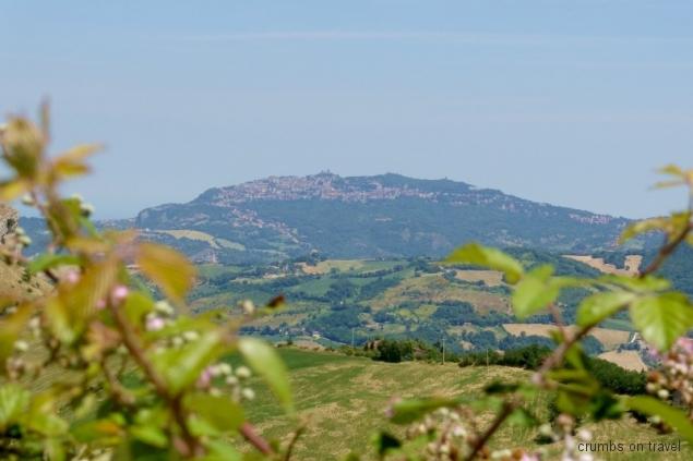 View to San Marino from San Leo, Emilia-Romagna/Italy