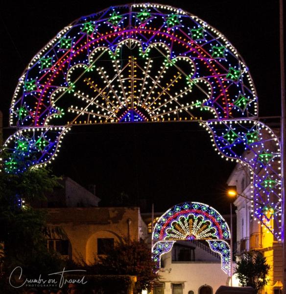 Lights at the San Vito Festival in Forio d'Ischia/NA