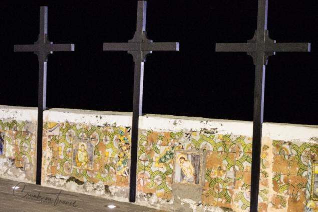 Crosses at the Soccorso church in Forio d'Ischia/NA