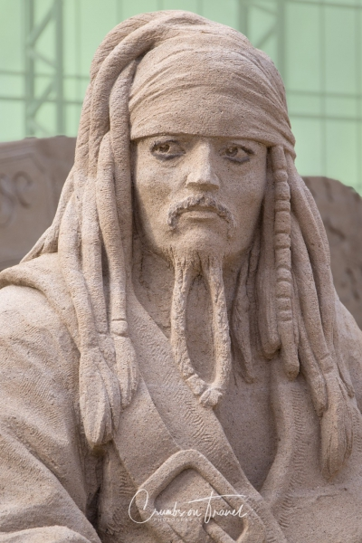 Sand Sculptures Travemünde 2019 - Captain Sparrow