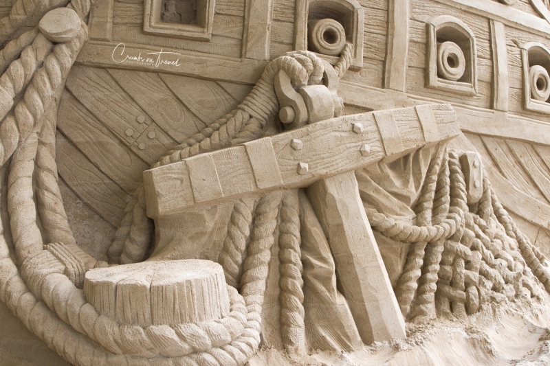 Sand sculptures Travemünde 2019 - Ship details