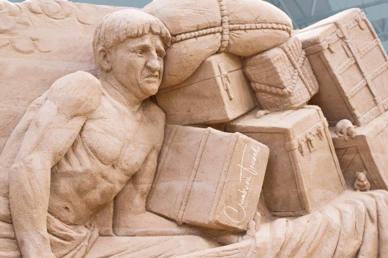 Sand Sculptures Travemünde 2019 - Life at the port