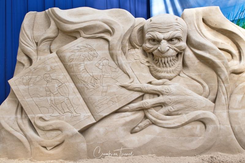 Sand Sculptures Travemünde 2019 - St. George legend