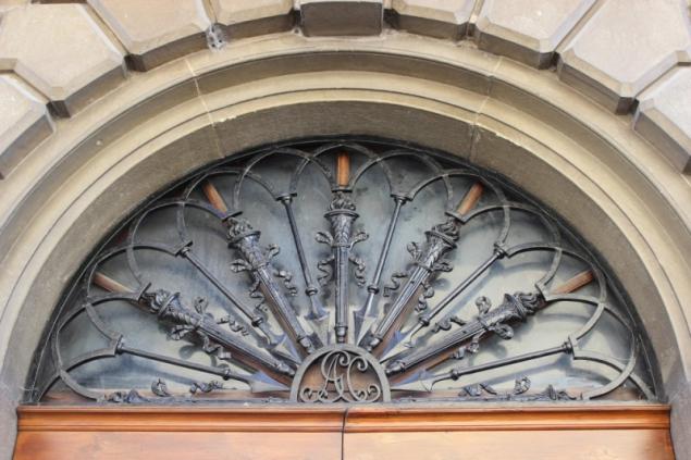 Door detail in San Sepolcro, Emilia-Romagna/Italy