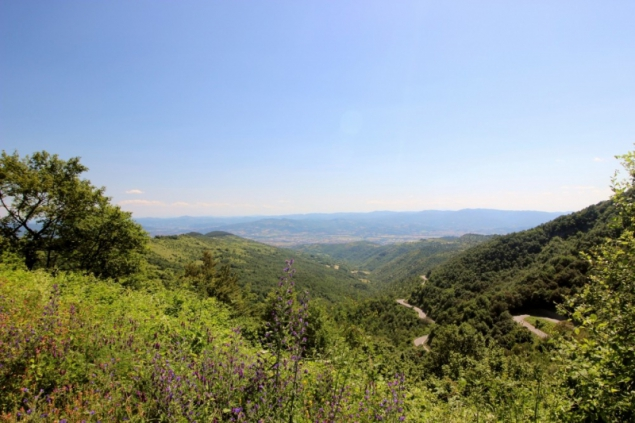 View into the Tiber valley