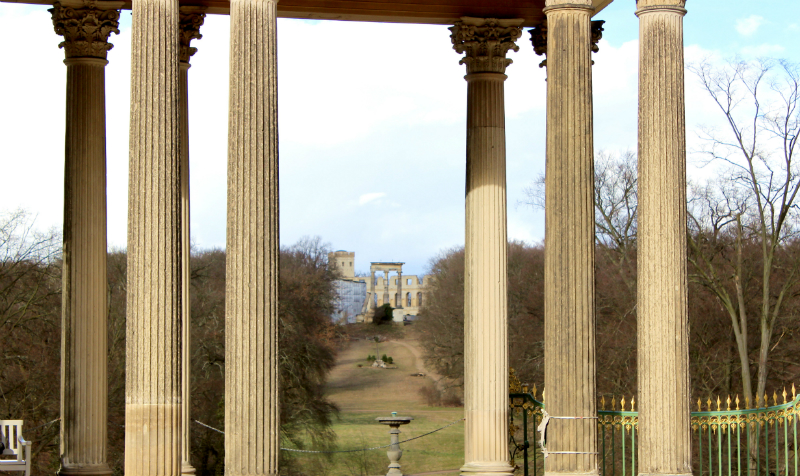 Columns at Sanssoucis, Potsdam, Germany