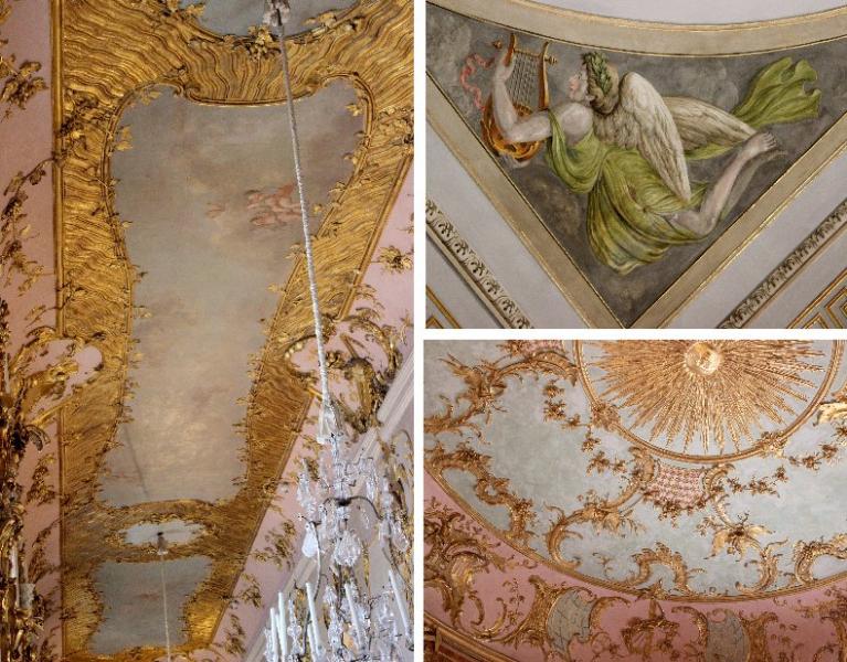 Ceilings, Sanssoucis, Potsdam